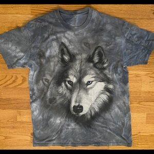 Wolf Graphic Tye Dye Tee- The Mountain
